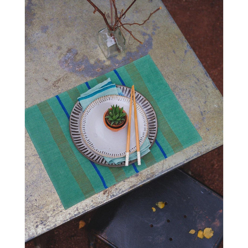 Arundhati Handwoven & Block-Printed Table Placemats - Brik + Clik