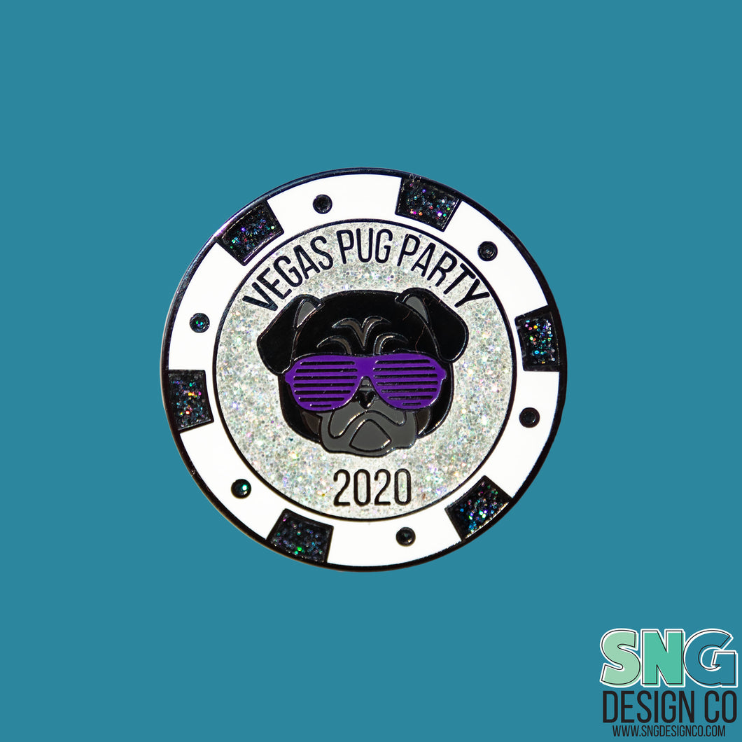 Vegas Pug Party 2020 Pin