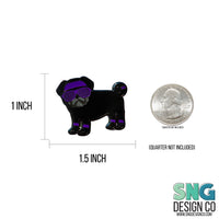 80s Black Pug Hard Enamel Pin