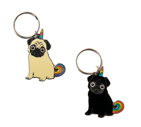 Pugicorn Key Chain