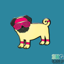 Load image into Gallery viewer, 80s Fawn Pug Hard Enamel Pin