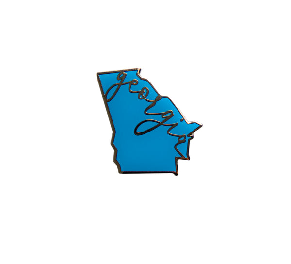 Democrat Blue Georgia Political Enamel Pin