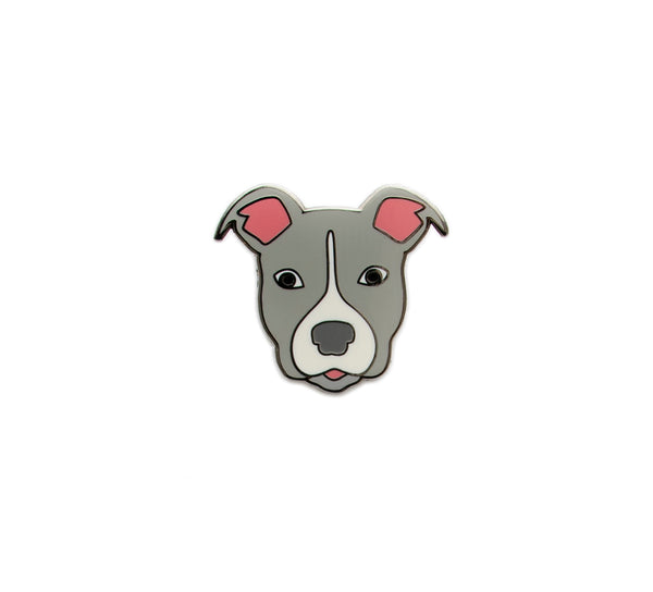 Pitbull Hard Enamel Pin Blue/Grey