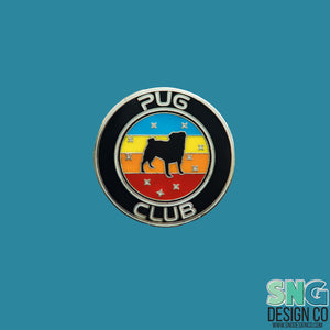 Pug Club Space Enamel Pin