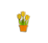Tulip Hard Enamel Pin Yellow