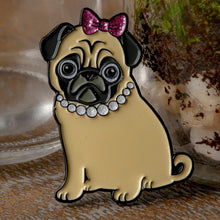 Load image into Gallery viewer, Sassy Philomena the Pug Enamel Pin