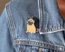 Load image into Gallery viewer, Magical Unicorn Pug Enamel Pin | Philomena the Pug | Pugicorn Unipug