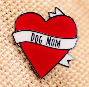 Dog Mom Heart Pin  | Heart Enamel Pin | Cute Heart Pin