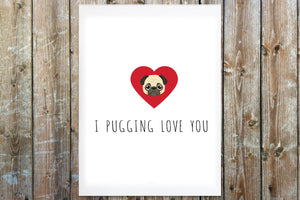 I Pugging Love you Greeting Card