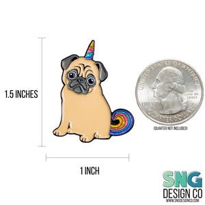 Magical Unicorn Pug Enamel Pin | Philomena the Pug | Pugicorn Unipug