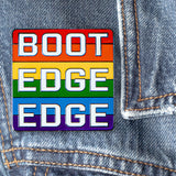 Boot Edge Edge Pete Buttigieg Pride Enamel Pin