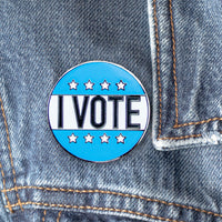 I Vote Blue for Democrats Hard Enamel Pin