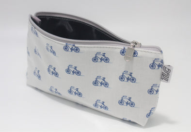 CIGSL- Bicycle Blues Double Slicker Cigar/Cosmetics Bag