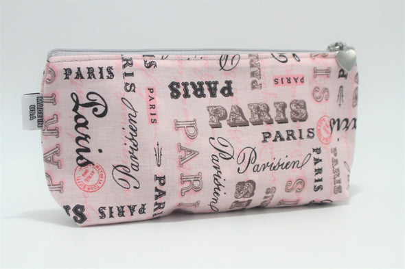 "CIGSL- Pink Paris ""Cigar"" Cosmetics/Tampon Slicker Bag"