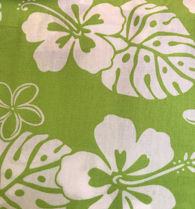 Fabric by the Yard - Classic Hawaiian (Green)