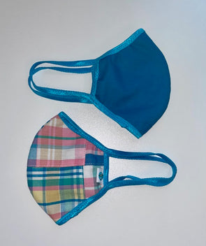 Face Mask (Behind the Ears) - Pretty Plaid Ultra Lightweight FM