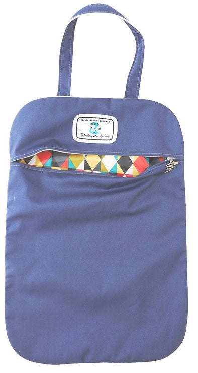 LB - Slicker Geometric (Blue) Laundry Bag