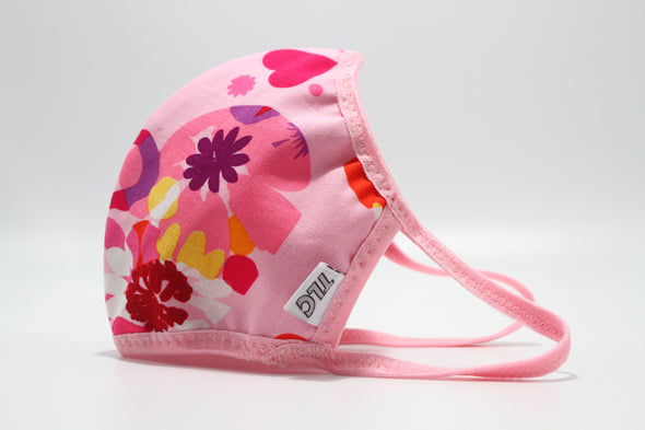 Face Mask (Behind the Ears) - Hearts & Flowers Ultra Lightweight FM