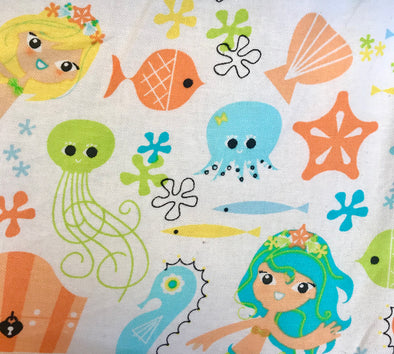 Fabric by the Yard - Mermaid & Friends