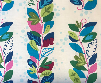 Fabric by the Yard - Blue Leaf Special