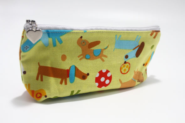 "CIGSL- Dogs in the Park ""Cigar"" & Cosmetics Bag"