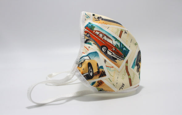Face Mask (Behind the Ears) - Road Trip USA Lightweight FM