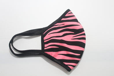 Face Mask (Behind the Ears) - Pink Tiger Stripe FM