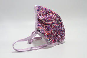 Face Mask (Behind the Ears) - Purple Paisley Lightweight FM
