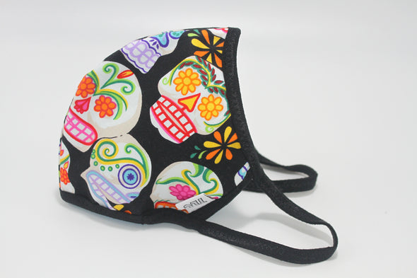 Face Mask (Behind the Ears) - Mini Sugar Skulls Ultra Lightweight