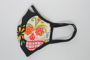Face Mask (Behind the Ears) - Glitter Sugar Skulls Ultra Lightweight FM