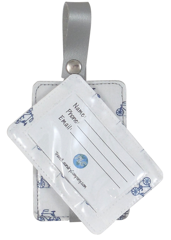 Luggage Tag Duo - Bicycle Blues