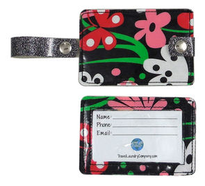 Luggage Tag Duo - Flirty Flowers