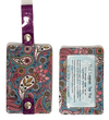 Luggage Tag Duo - Purple Paisley
