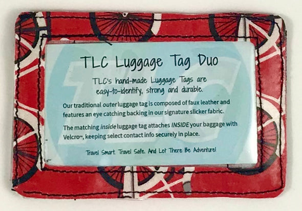 Luggage Tag Duo - Bicycles