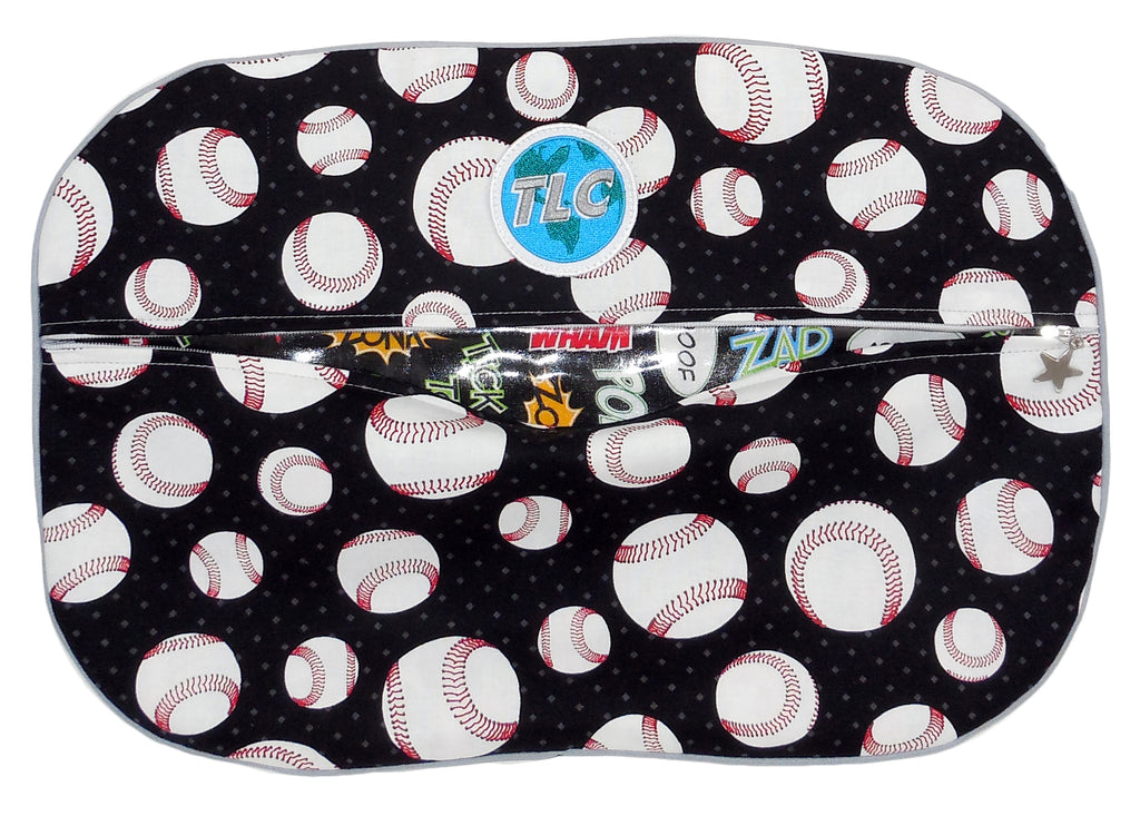 SBSL - Black Baseball Shoe Bag
