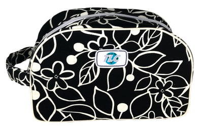 TBSL- Black & White Flower Classic Toiletry Bag