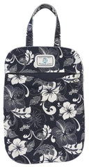 ULW White Hibiscus (Navy) Laundry Bag