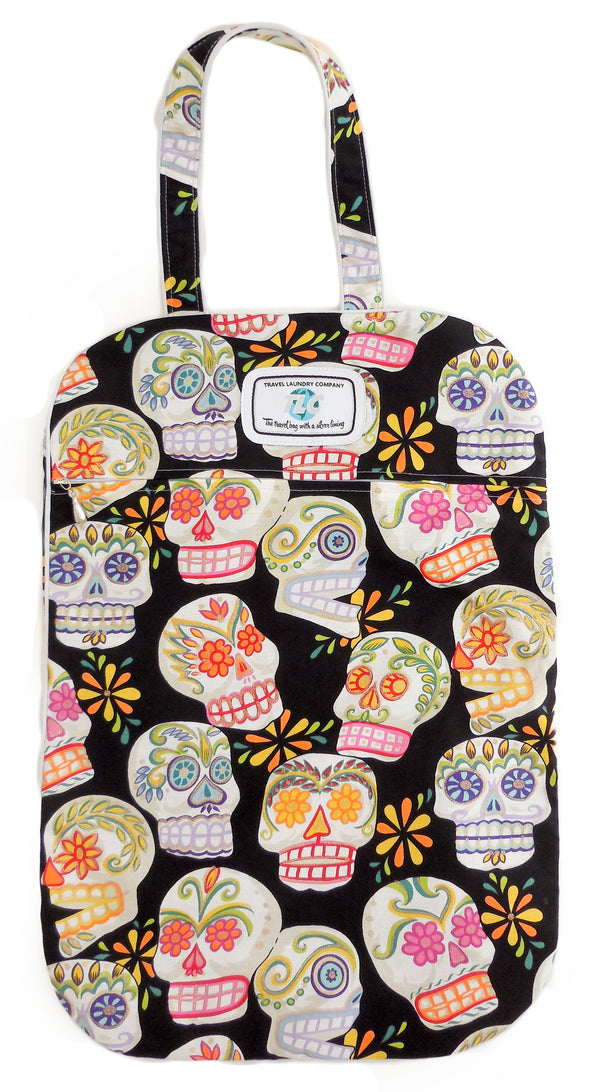 Ultra Lightweight Sugar Skulls Laundry Bags