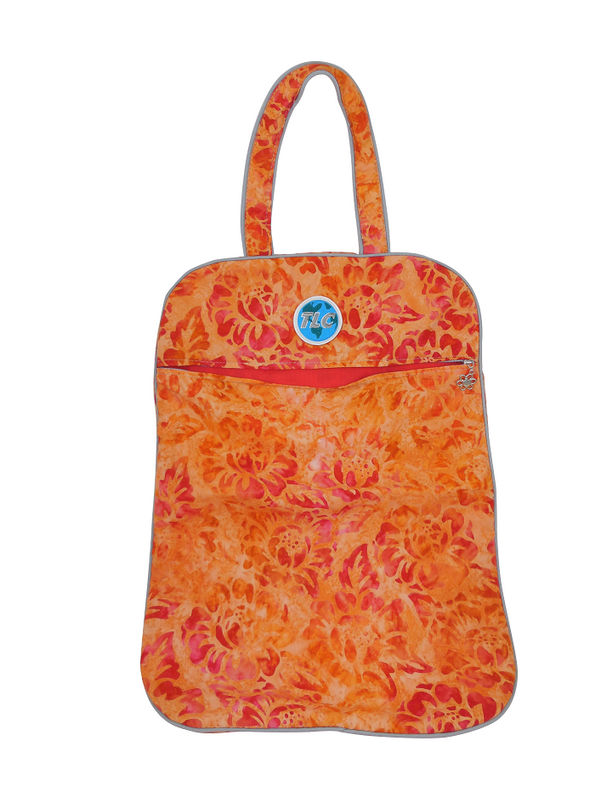 Ultra LIghtweight Orange Flower Batik Laundry Bag