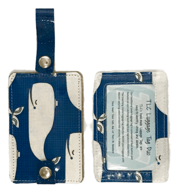 Luggage Tag Duo - Whale Watching