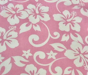 Fabric by the Yard - Classic Hawaiian (Pink)