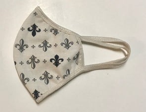 Face Mask (Behind the Ears) - Fleur De Lis Ultra Lightweight FM