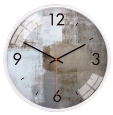 Horloge murale design art marron