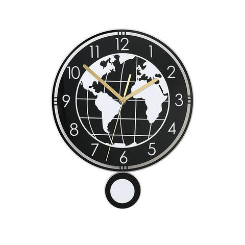 Horloge Murale Design Balancier Worldwide