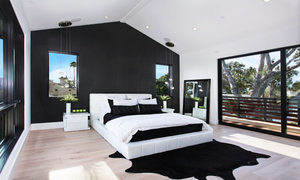 Black Cowhide Rug Bedroom Homepage