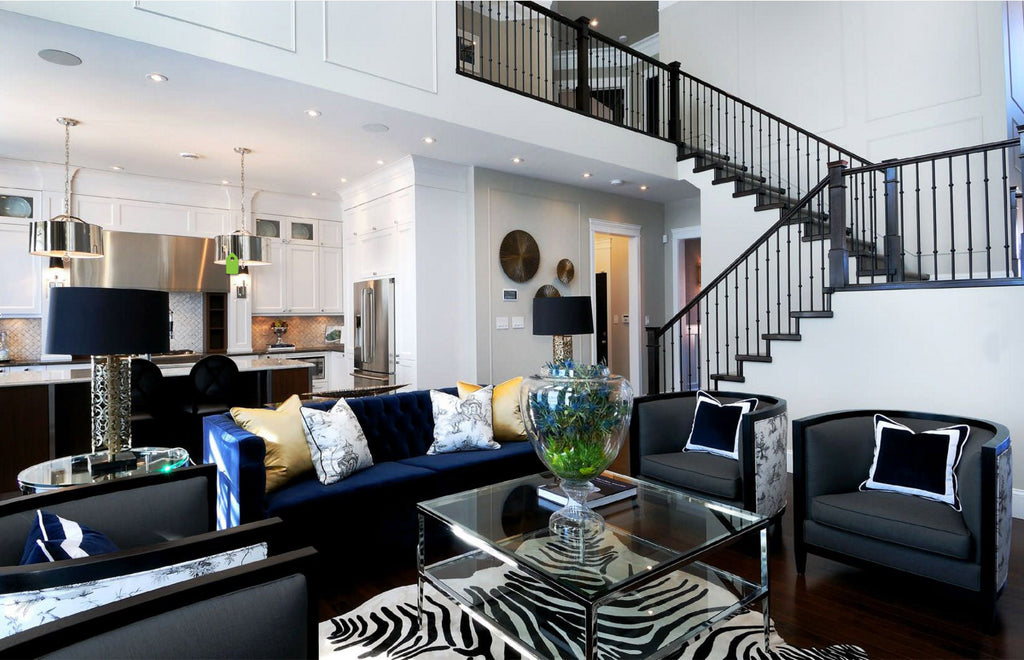 Zebra Print On Off White Cowhide Rug Living Room