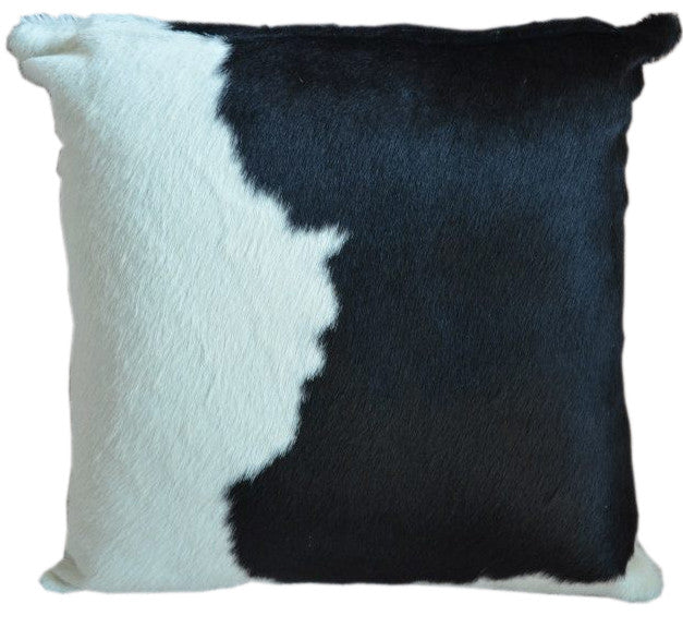 Black and White Cowhide Pillow - Double Sided