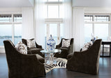 Zebra Print on off-white Cowhide rug center room