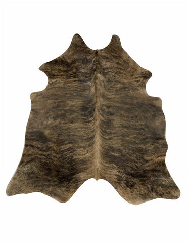 Blackish Brown Brindle Cowhide Rug - L