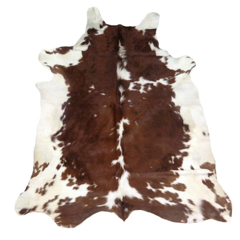 Brown Red Speckled Cowhide Rug - L